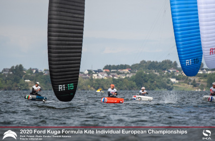 Axel Mazella and Julia Damasiewicz claim gold at the 2020 Formula kite individual europeans
